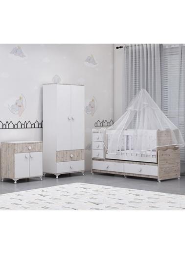 Garaj Home Garaj Home Melina Damla 2Li Bebek Odası Takımı Yatak Ve Uyku Seti Kombinli/ Uyku Seti Beyaz Beyaz